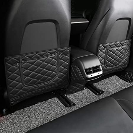 Kick Mat Auto Seat Back Protectors Organizer Pockets By Lebogner Backseat Child Kick Guard Seat Saver X-Large Car Back Seat Protectors Luxury Seat Covers For The Back Of Your Front Seats 2 Pack