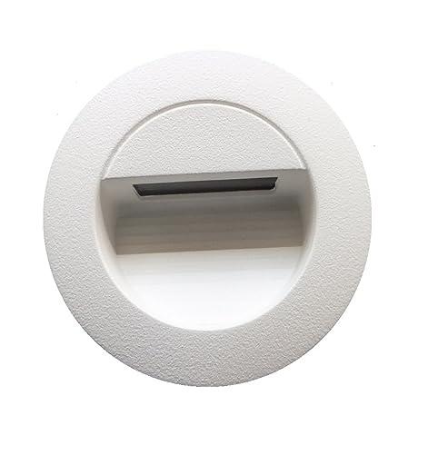 Weisse 1,2w LED Wandleuchte Stiegen Einbauleuchte Warmweiß  Stiegenbeleuchtung Für Innen Und Außen Stiegenleuchte Treppenlicht