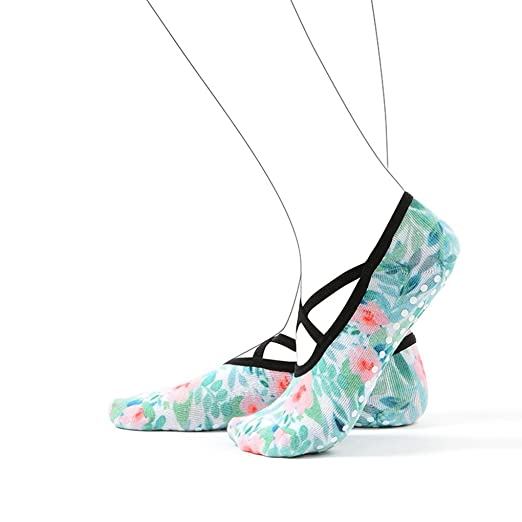 Amazon.com: PinkBTFY Womens Cotton 3D Printed Ankle Socks Pilates Non-Slip Grip Dance Yoga Socks Blue M: Clothing