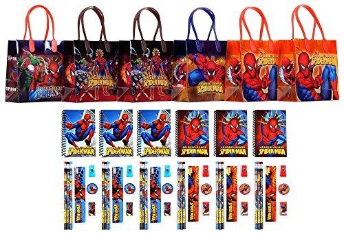 Marvel Spider Man Stationery - Marvel Spider-man Party Favor Stationery Set - 6 Packs (54 Pcs)