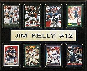NFL Buffalo Bills Jim Kelly Plaque (8-Card), 12 x 15-Inch