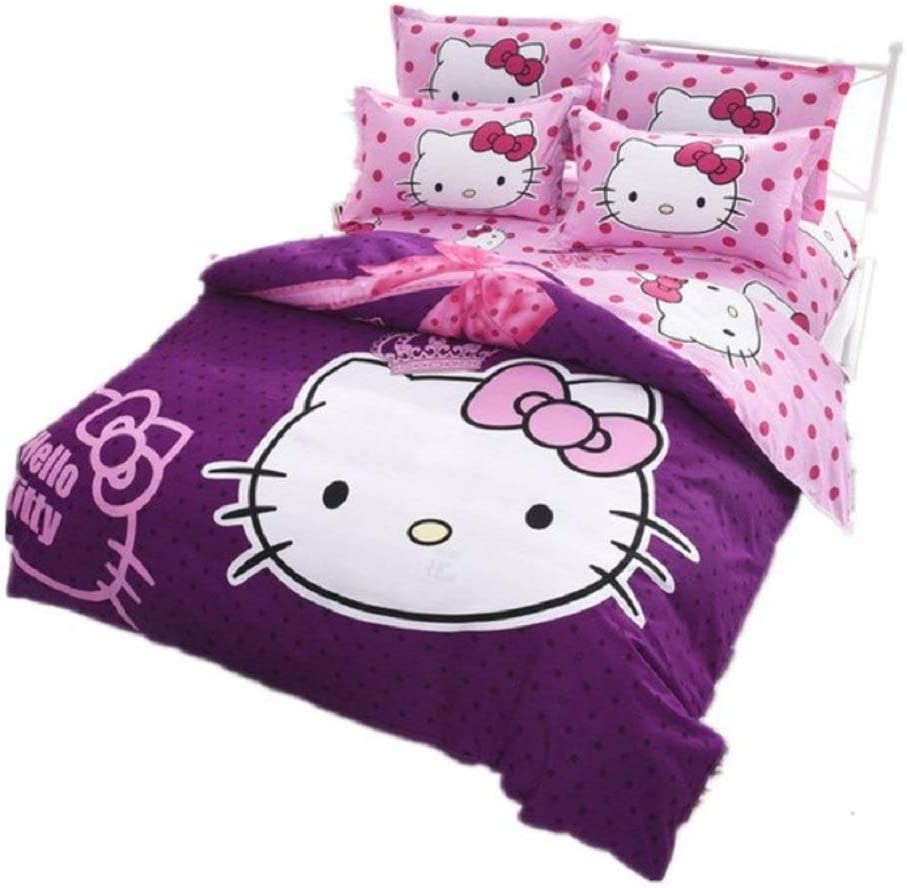 Hello Kitty - Bettwäsche 90cm Bettbezug + Bettlaken + Wendekissenbezug