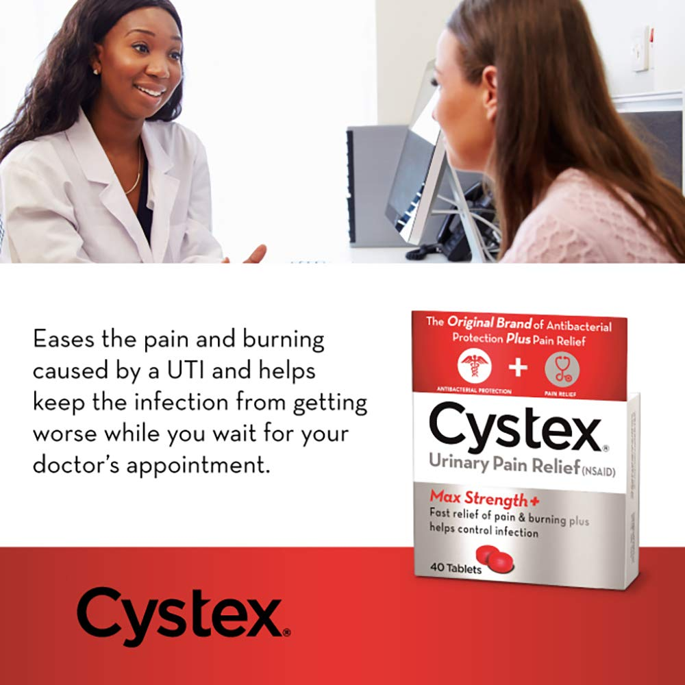 Cystex Urinary Pain Relief Tablets | Fast UTI Treatment | Controls Frequent  Urination | Keeps Urinary