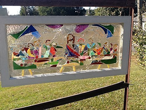 Stained Glass Christian Window Art Sun Catcher, The Last Supper, Jesus Art by Mountain Mosaics
