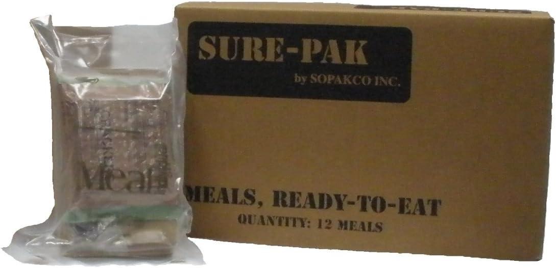 Sure Pak MRE - Caja de Comida Lista para Comer, 12 Unidades, para ...