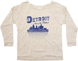 f3b17d7b26 Detroit Paris The Midwest - Raw Edge 3/4 Sleeve Raglan T-Shirt -