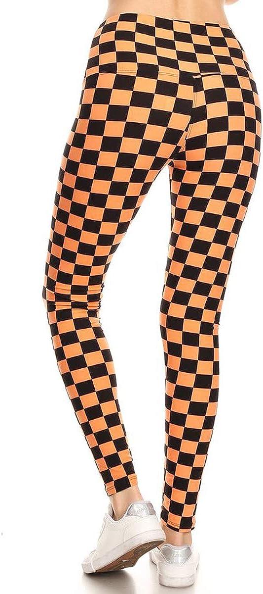 Leggings Depot REG//Plus Womens Buttery Soft High Waisted Print Leggings