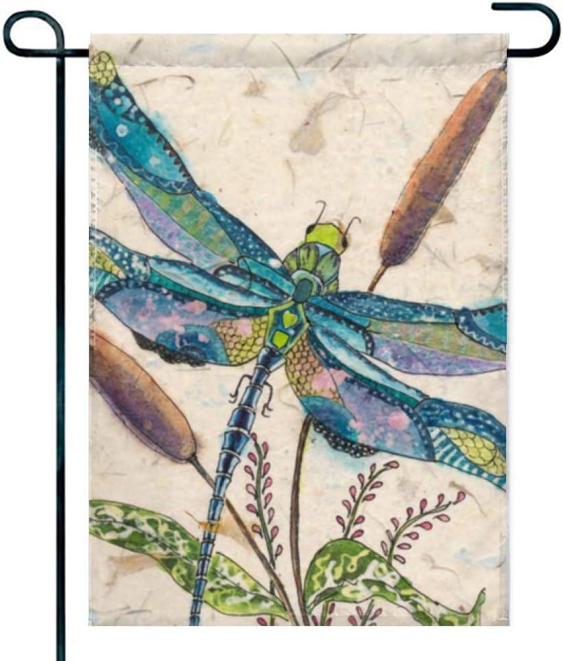 Amuseds Double Sided Premium Garden Flag,Dragonfly-Art Decorative Garden Flags - 18 x 12 Inch