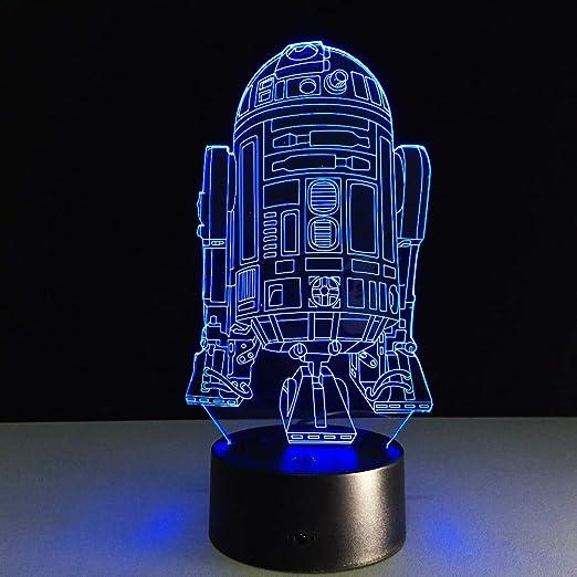 Modeganqingg Luz de Noche LED 3D Vision-Seven Colors-Control ...