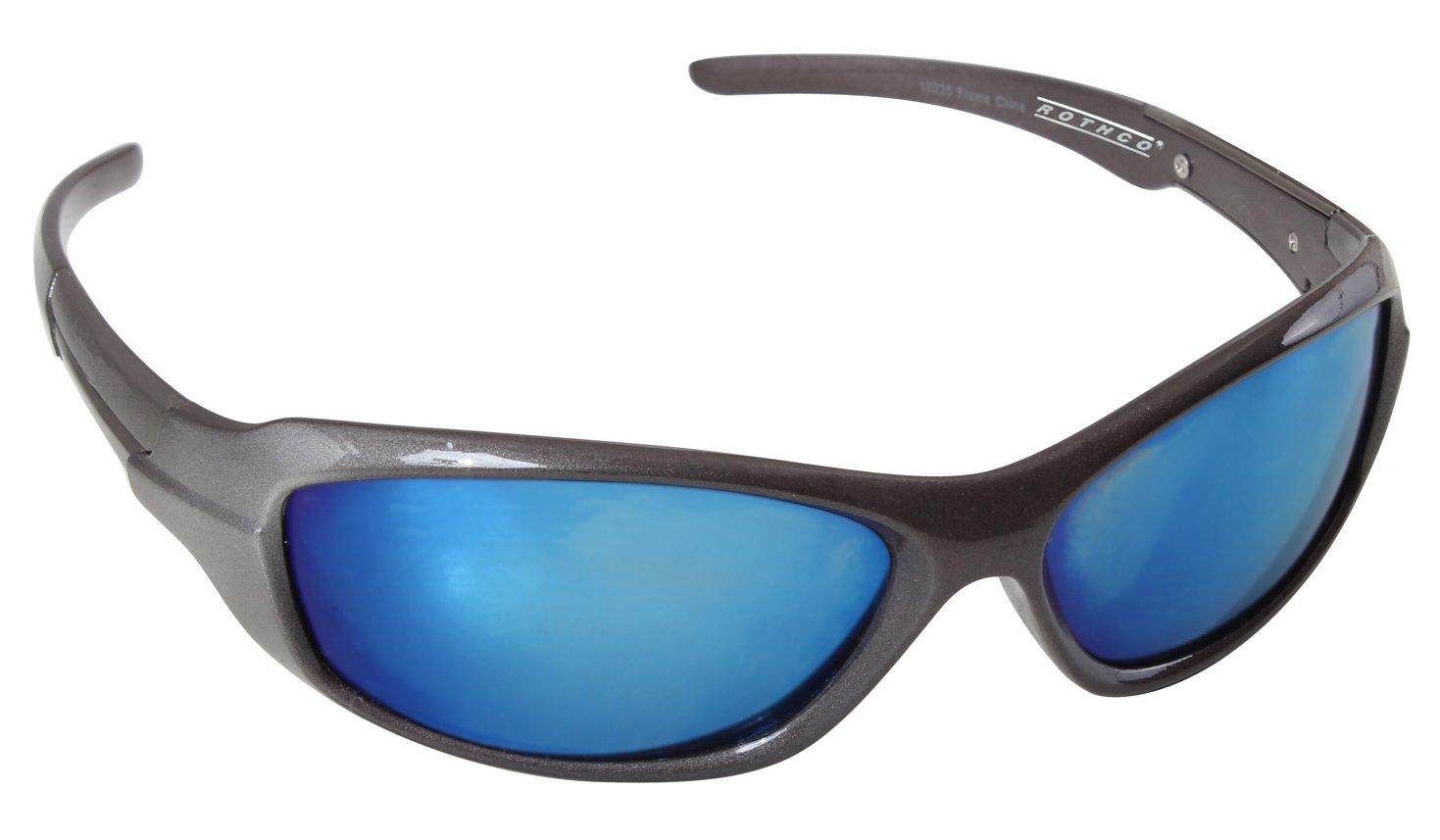 Rothco 9mm Sunglasses, Gray Frame/Mirror Lens