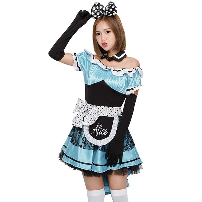 Amazon.com: Disfraz de Alicia Dreamland Maid Halloween COS ...