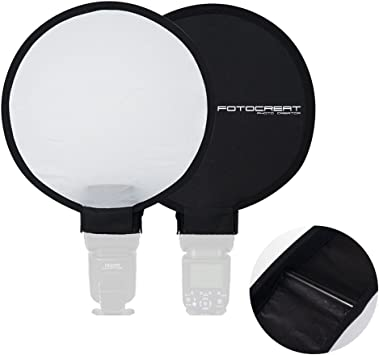 40cm Softbox Lighting Kit Mini Portable Round Beauty Dish Speedlite Flash Diffuser Softbox for Nikon Canon Sony for Portrait Video and Shooting