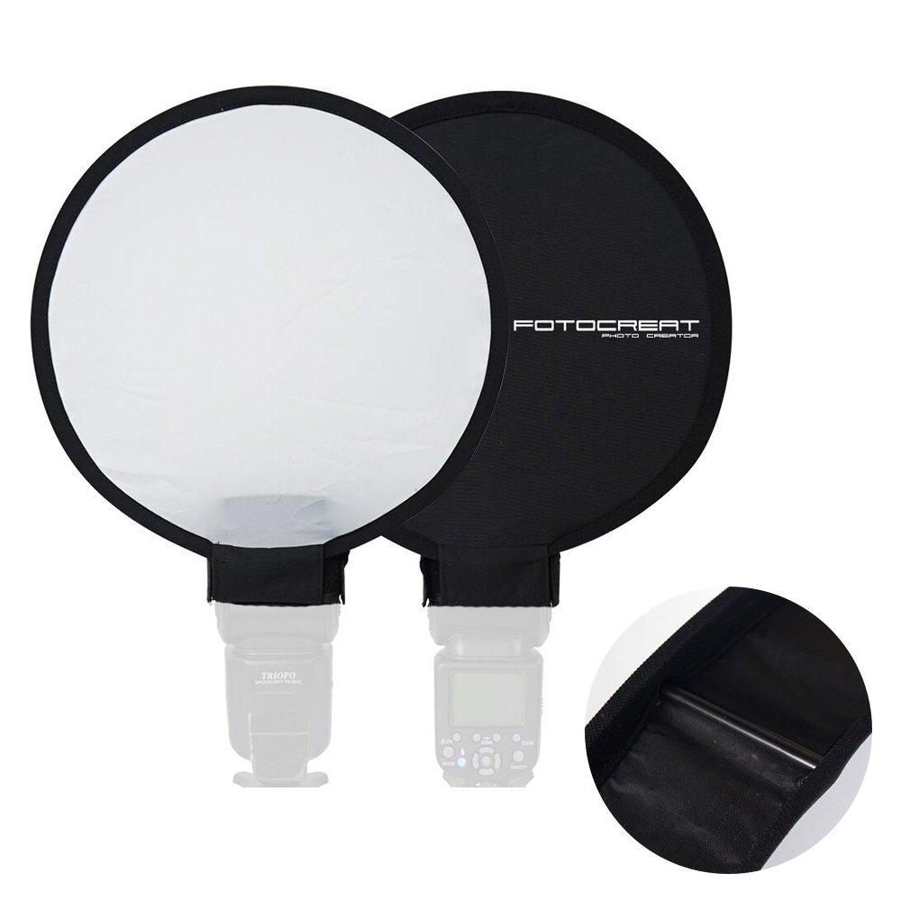 FOTOCREAT 12''(30cm) Portable Mini Round Soft Box Studio Shooting Tent Flash Diffuser Soft Box for Nikon/Canon/Sony/YongNuo/Bower/Metz/Nissin/Pentax/Sigma/Vivitar/Sunpack Speedlite by FOTOCREAT