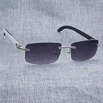 LKVNHP Nueva Vintage Sin Montura Blanco Interior Negro Gafas ...