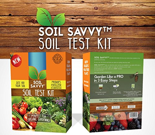 Soil Savvy Soil Test Kit | Understand What Your Lawn or Garden Soil Needs, Not Sure What Fertilizer to Apply | Analysis Provides Complete Nutrient Analysis & Fertilizer Recommendation On Report - Rapitest Soil Test