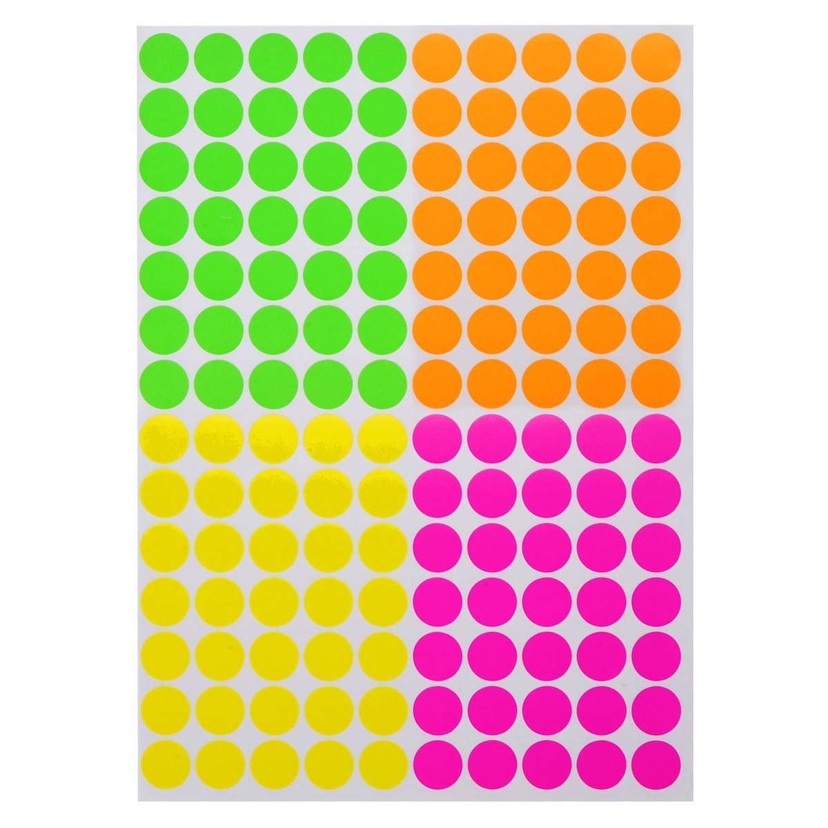 ONUPGO Pack of 2240 Round Color Coding Labels Circle Dot Stickers, 3/4'' Fluorescent Dot Labels Sticker, Bright Neon Colors Label (Assorted Neon Colors - (Pink, Green, Red, Yellow)) by OnUpgo (Image #2)