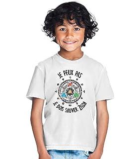 6151e4b763a9c Tshirt Je Peux Pas Je Dois sauver Zelda - Cadeau Tee Shirt Enfant Gamer  Princesse RPG