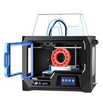 QIDI TECH 3D Printer, X-Pro 3D Printer with WiFi Function, Dual Extruder, High Precision Double Color Printing with ABS,PLA,TPU Filament,9.1x5.9x5.9 ...