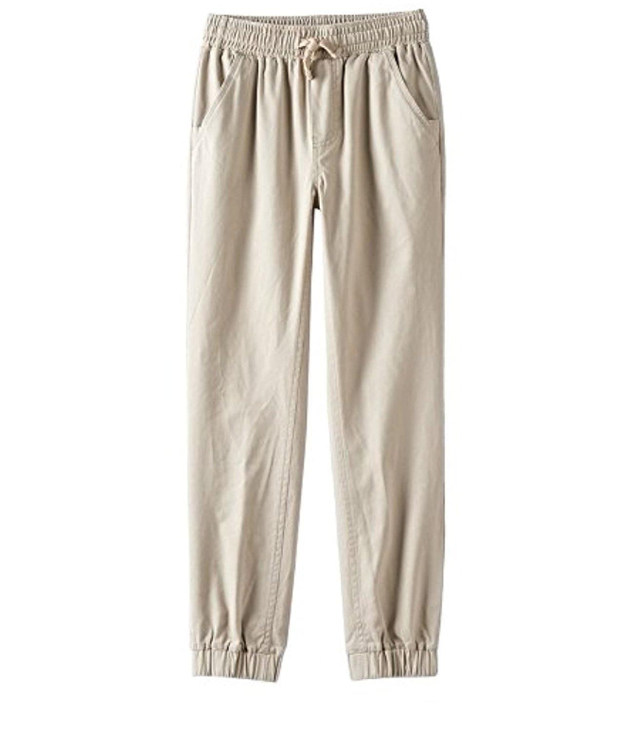 Regular Medium 10//12 Chaps Boys Performance Jogger Pants Khaki
