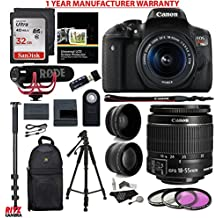 Canon EOS Rebel T6i Video Creator Kit with 18-55mm Lens + Rode Video GO Microphone + Sandisk 32GB Class 10 + Polaroid .43x HD Wide Angle Lens + Polaroid 2.2X HD Telephoto Lens + Polaroid Accessory Kit
