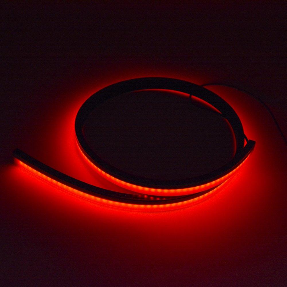 Binchil 100cm Feux Arriere Apres 3030 144 Feux Arriere LED eclairage LED de Frein Rouge eclairage General Voiture Cycle de la Lumiere davertissement durgence durgence CC12V