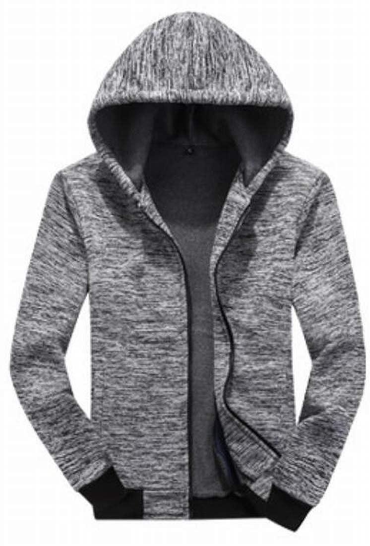 XiaoTianXinMen XTX Mens Zip-Up Camouflage Print Hooded Thicken Quilted Down Jacket Coat