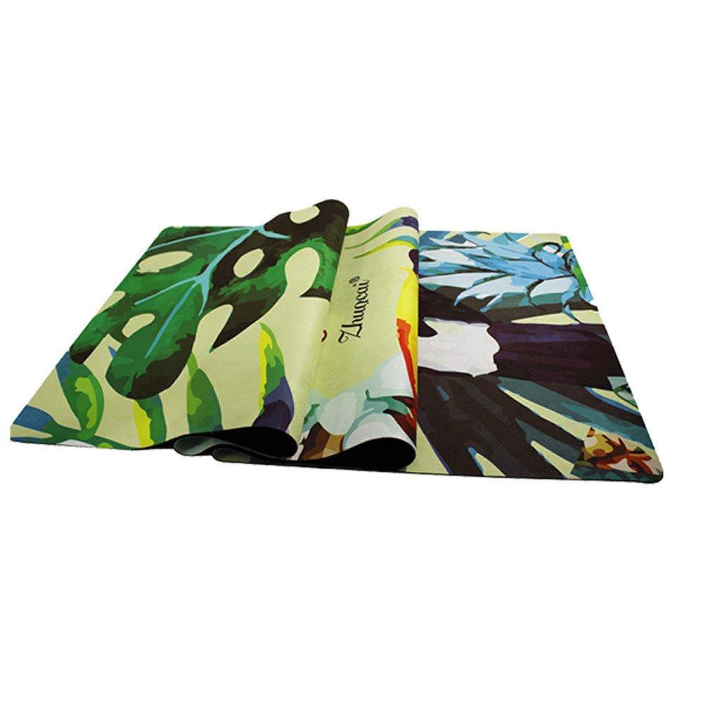 Maybesky Rutschfeste Yogamatte mit Tragegurt Yoga Matte Wildleder 3mm Umweltfreundliche Köstliche Fitness-Matte Yoga-Matte Für Gym Familie.