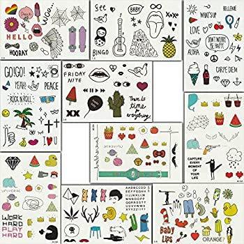Temporary Tattoos for Kids, 200 Designs, 10 Sheets, 6x4 inches (Korea)