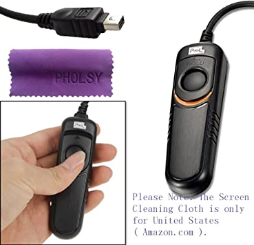Kiwifotos RM-UC1 Remote Control Remote Shutter Cord for Olympus OM-D E-M10 Mark II E-M10 E-M5 Mark II E-M5 E-M1 E-P1 E-P2 E-P3 E-P5 E-PL2 E-PL3 E-PL6 E-PL7 E-PL8 Pen-F Stylus SH-2 SH-1