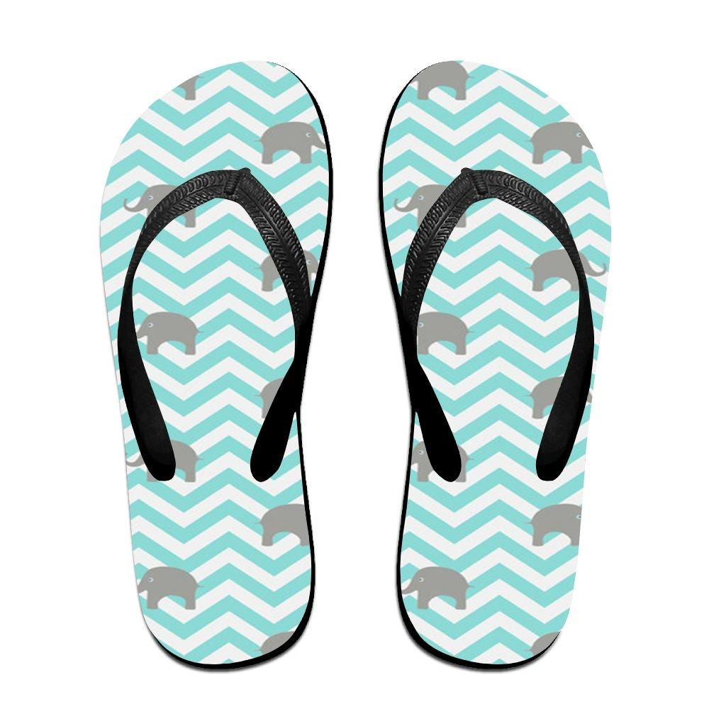 Tailing Flip Flops Elephant In Green Wave Unisex Trendy Print Slippers Beach Sandal