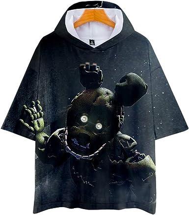 GuiSoHn Hombre Mujer Sudadera de Manga Corta 3D Imprimió T-Shirt Cosplay Camisetas de Manga Cortas Five Nights at Freddy: Amazon.es: Ropa y accesorios