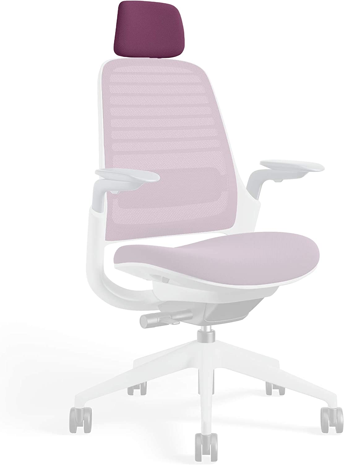Headrest for Series 1 Task Chair by Steelcase | Seagull Frame, 3D Microknit Fabric | Add-On Part Only (Concord)