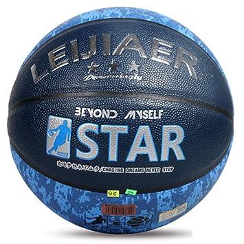 LUCKYGBY Balón de Baloncesto, Unisex Adulto, Azul/Negro, 7: Amazon ...