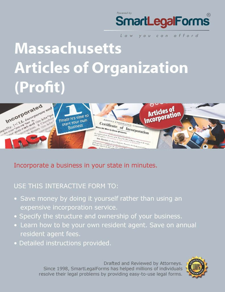 Articles of Organization (Profit) - MA [Instant Access] by SmartLegalForms, Inc.