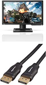 BenQ Zowie XL2411P 24 Inch 144Hz Gaming Monitor for Esports, Full HD 1080p, 1ms, Black Equalizer, Color Vibrance & AmazonBasics DisplayPort to DisplayPort HD Display Cable - 6 Feet