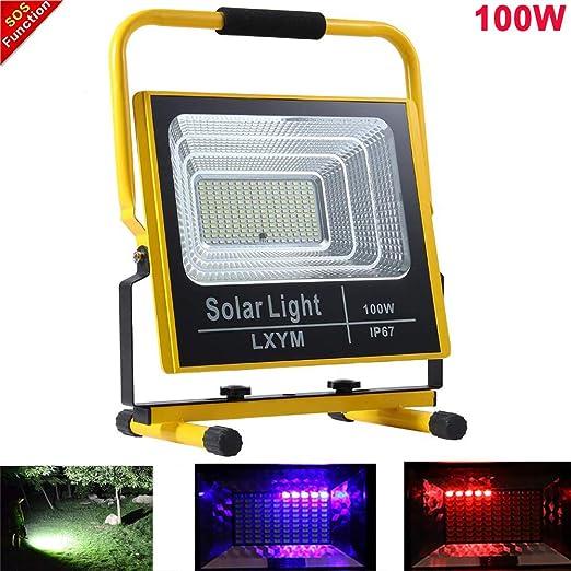 Foco Led Proyector Recargable 100w LED Proyector de Construcción ...