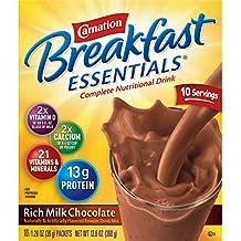 Carnation Breakfast Essentials Instant Breakfast Rich Milk Chocolate 10ct 2 pack
