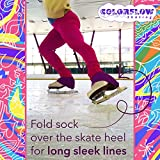 Purple Microfiber Knee High Skating Socks