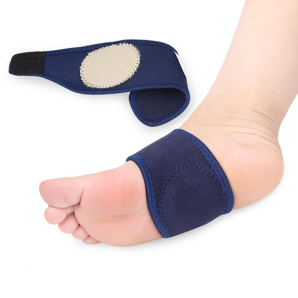 Compression Arch Support Sleeves For Men Women - Flat Feet Arch Support - Foot Brace Plantar Fasciitis Support - Foot Arch Band For Running - Copper Elastic Arch Bandage High Fallen Arches