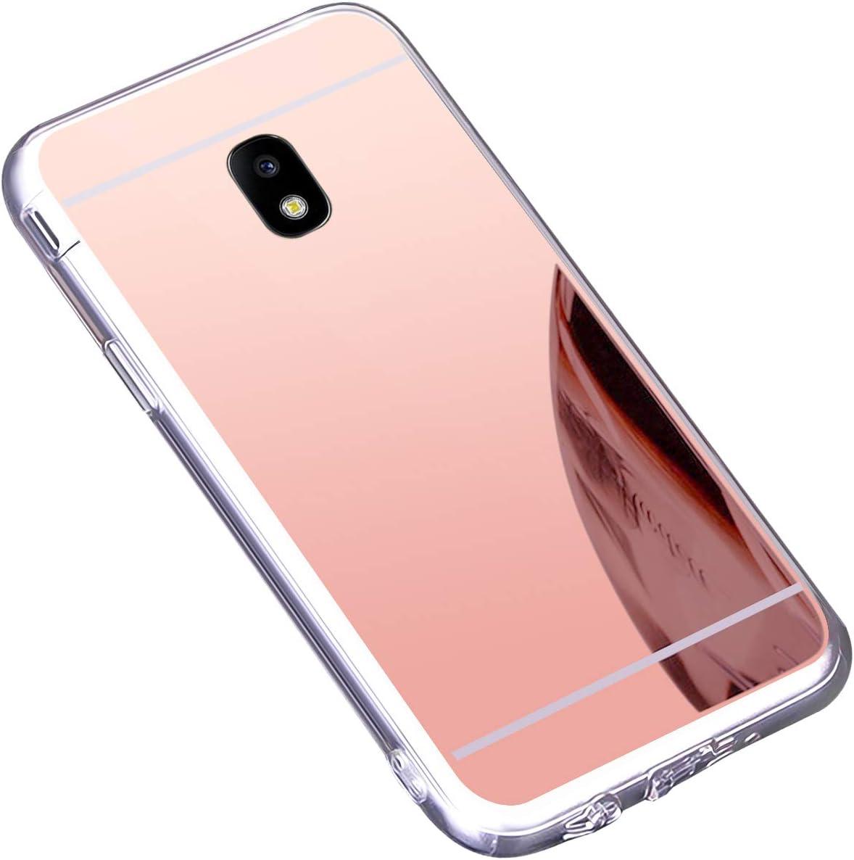BONROY Coque Samsung Galaxy J5 2017 J530 R/étro Emboss Premium Flip Housse Coque Etui PU Cuir pour Samsung Galaxy J5 2017 J530-Gris