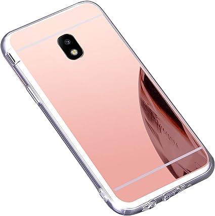 Coque Galaxy J3 2017,Miroir Housse Coque Silicone TPU pour Samsung Galaxy J3 2017,Surakey Bling Briller Diamond Coque Miroir Etui TPU Téléphone Coque ...