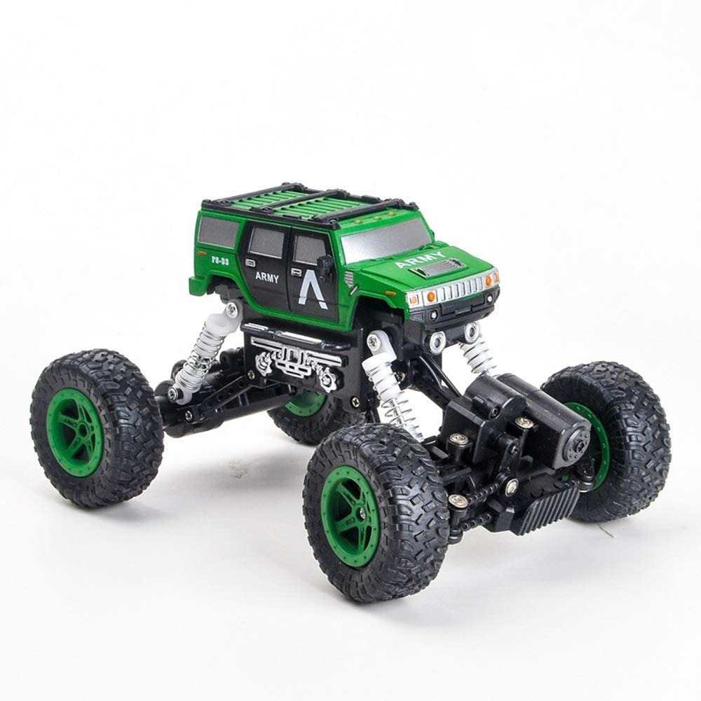 PETRLOY High Speed 1 18 Scale Rock Crawler Hobby Toys Vehicles Climber Off Road Car 2.4Ghz R C Car Electronic Remote Control Outdoor Competition Monster Truck for Kids & Adults Toy (Green)