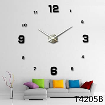 Buy Modern 3D Frameless Large Wall Clock Online at Low Prices in