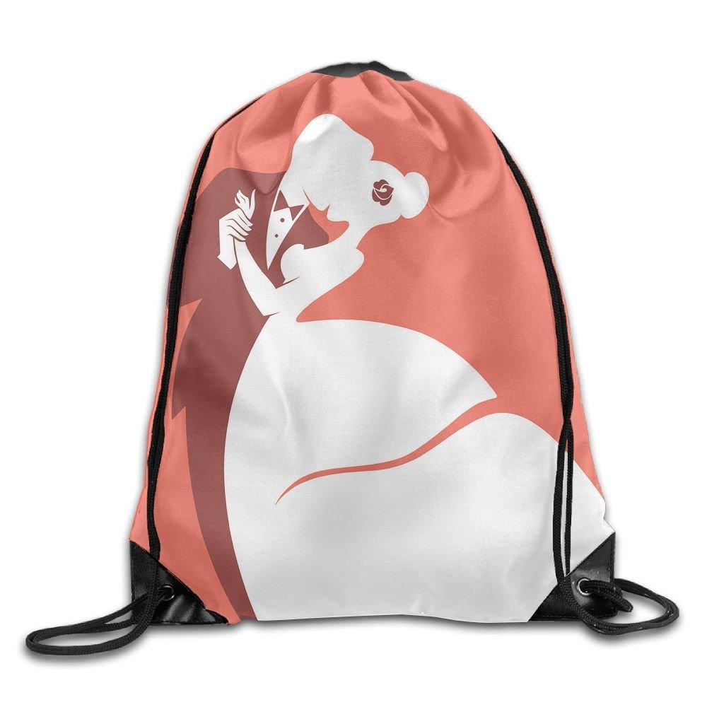 WSXEDC Drawstring Bag Romantic Wedding Durable Backpack For Yoga Sport Travel