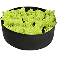 Pannow Raised Garden Bed, Fabric Raised Planting Bed Round Garden Grow Bag for Herb Flower Vegetable Plants (Dia 24'' x H 8'', Black)