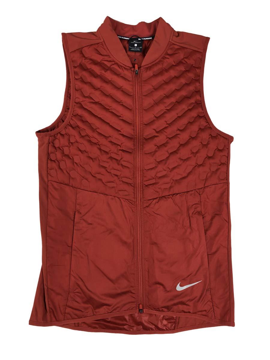 Nike Men's Aeroloft Running Vest (Burnt Orange, Small)