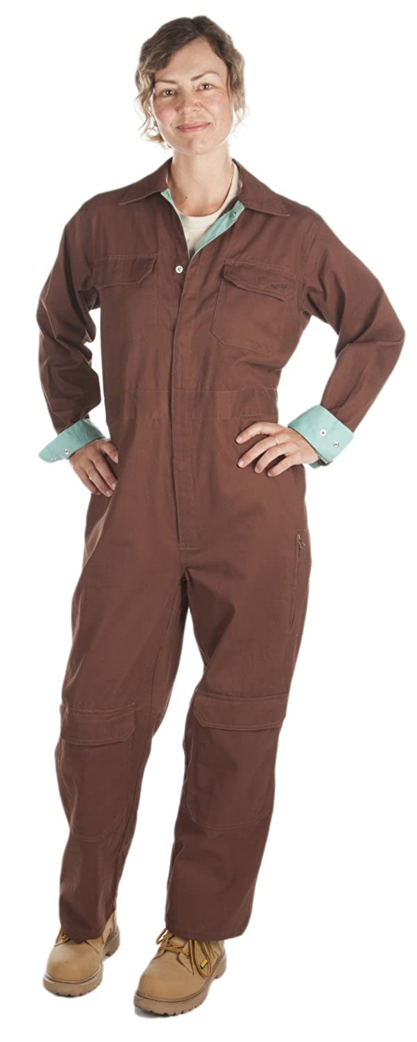 81cd480a68d Amazon.com  Rosies Work Wear Women s Cotton Coveralls- Knee Pads Included
