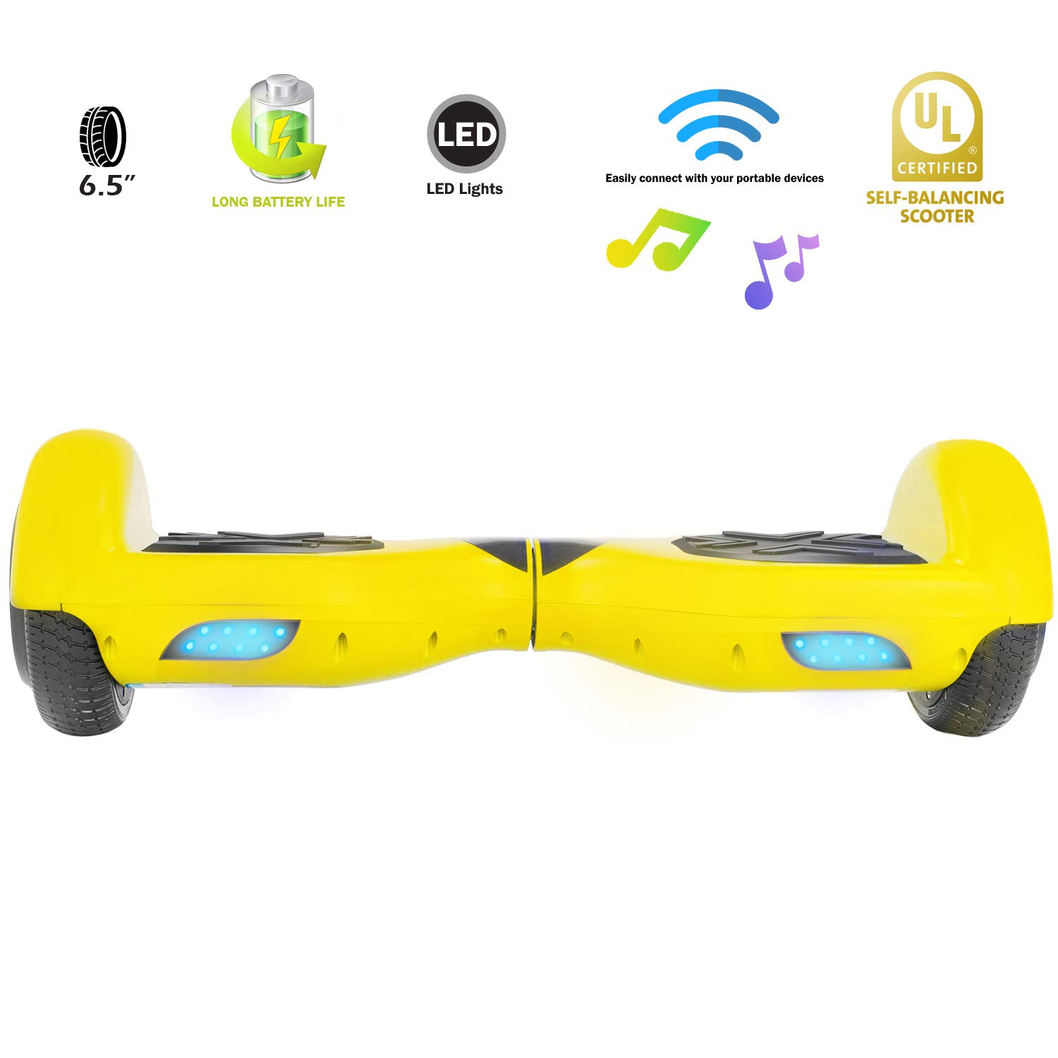 XPRIT Easter Sale Hoverboard w/Bluetooth Speaker (Yellow) by XPRIT (Image #2)