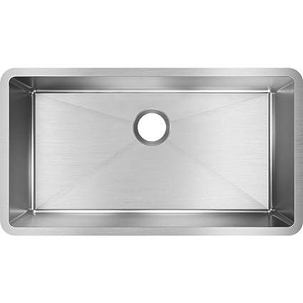 Elkay Crosstown EFRU311610T Single Bowl Undermount Stainless Steel ...