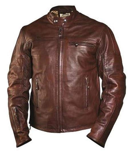 Roland Sands Design Apparel Mens Roland Sands Design Ronin Tobacco Leather Jacket 0800-04L0-1002